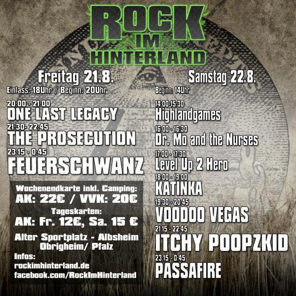 Running Order Rock im Hinterland 2015